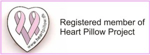 Logo heart pillow